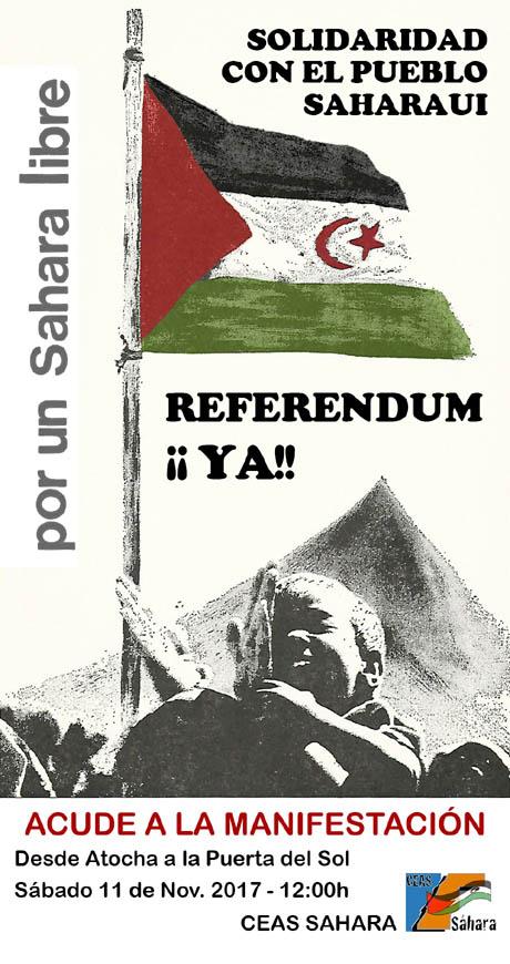 Cartel_Manifestación_111117-pueblo-sharaui-fedesaex-sahara-extremadura-