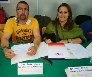 Por FEDESAEX, Juan Ramón Gómez (Presidente), y María José MAcarro (Coordinadora Técnica)